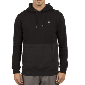 volcom single stone division hooded pullover black