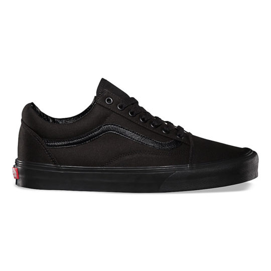 vans old skool black black canvas