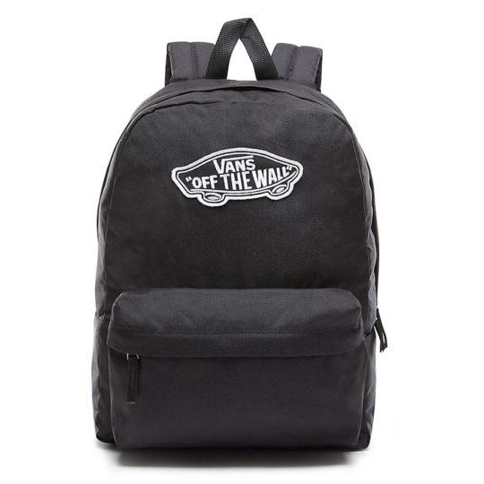 vans realm táska black white