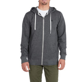 billabong all day zip hood pulóver black