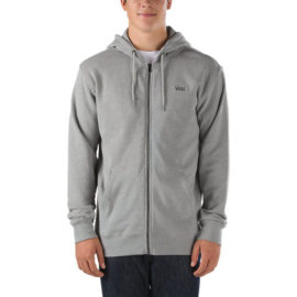 vans core basic zip heather grey