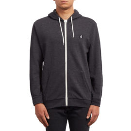 volcom iconic zip pulóver heather black