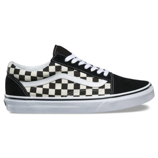 vans primary check old skool cipő black white