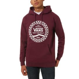 vans checkered side stripe front pulóver prune VN0A456Q7D5