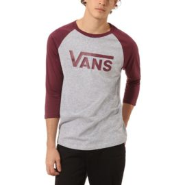 vans classic raglan póló athletic heather prune VN0002QQTN0