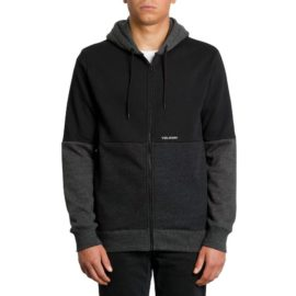 volcom single stone division pulóver black