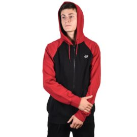 fox legacy zip pulóver black red