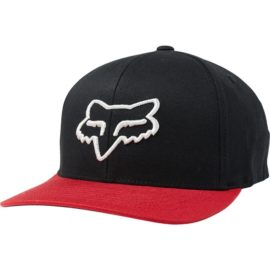fox scheme 110 snapback black red