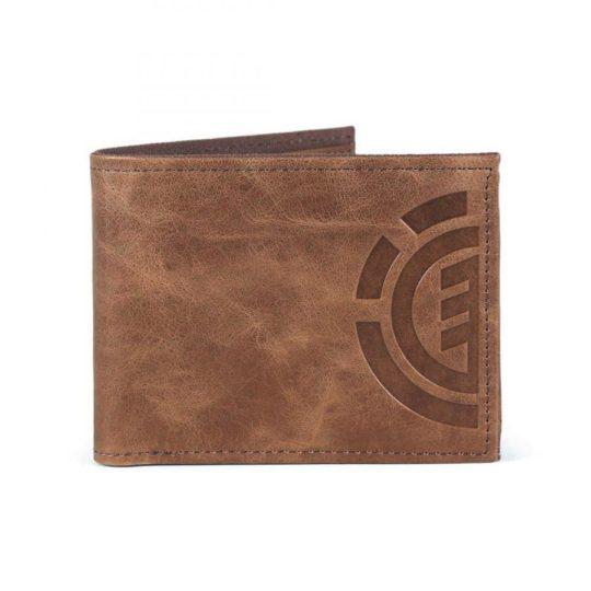 element daily leather pénztárca brown