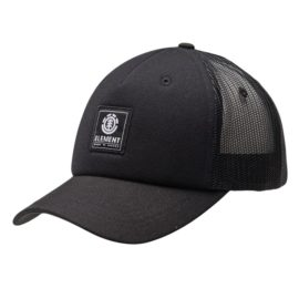 element icon mesh trucker sapka all black