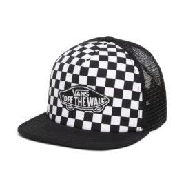 vans kids classic patch trucker black white checkerboard