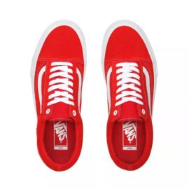 vans old skool pro cipő (suede) red/white VN000ZD4AJL1