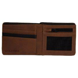 volcom slim stone pénztárca brown D6031855