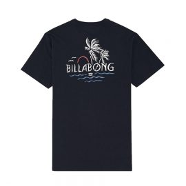 billabong social club póló navy