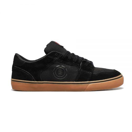 element heatley cipő black gum red
