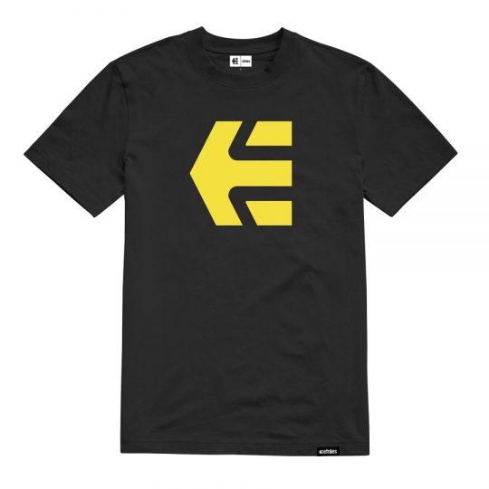 etnies icon póló black yellow