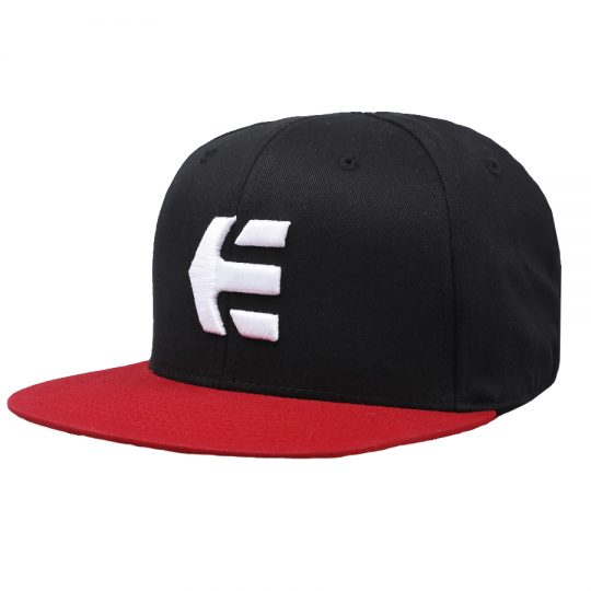 etnies icon snapback sapka black red