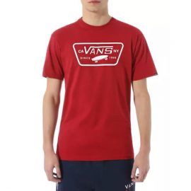 vans full patch t-shirt cardinal VN000QN8CAR
