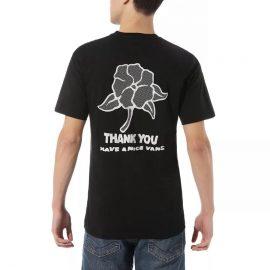 vans thank you floral póló black VN0A4ROTBLK