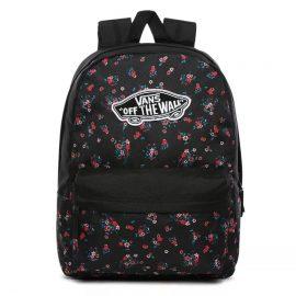vans realm táska beauty floral black VN0A3UI6ZX3