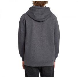 volcom timesoft zip black pulóver