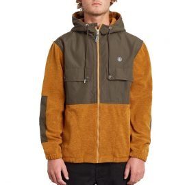 volcom yzzolate lined golden brown pulóver