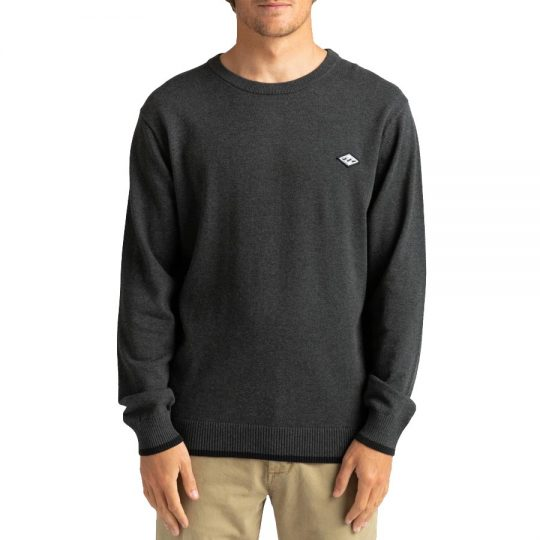 billabong all day sweater black heather pulóver