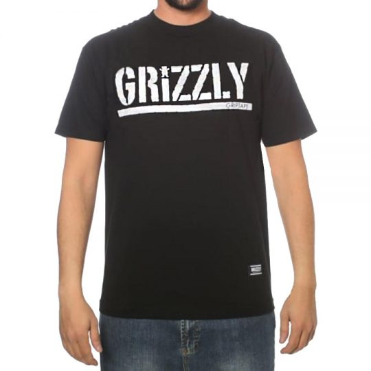 grizzly stamp black póló