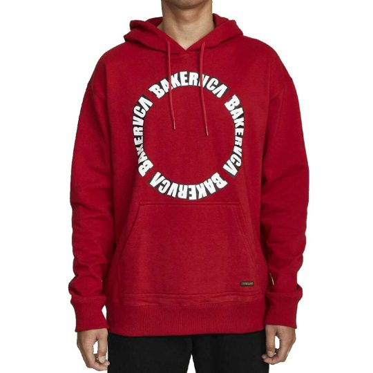 baker rvca hoodie bright red