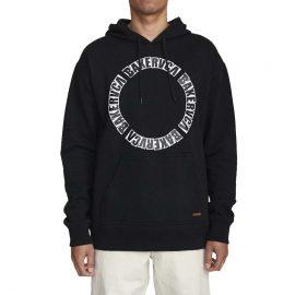baker rvca hoodie black