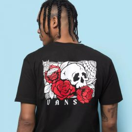 vans rose bed black póló VN0A54CVBLK1