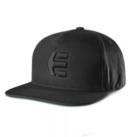 etnies icon snapback black black 4140001356 baseball cap