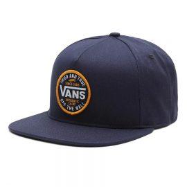 vans logo patch snapback dress blue VN0A542WLKZ1