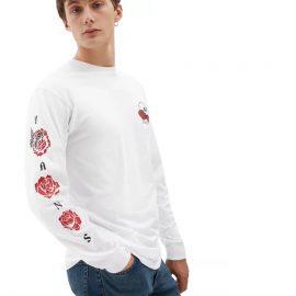 vans rose bed white ls póló