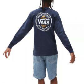 vans tried and true ls dress blue