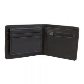 billabong dimension pénztárca black grain