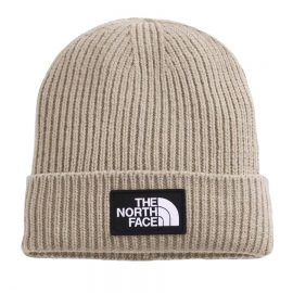 the north face logo cuffed flax NF0A3FJXCEL1