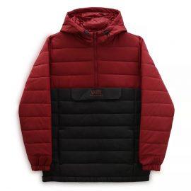 vans carlton II puffer kabát pomegranate black VN0A5FPZZ9V