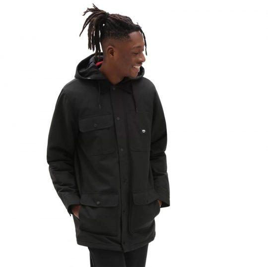 vans drill coat long mte-1 kabát black VN0A5FP9BLK
