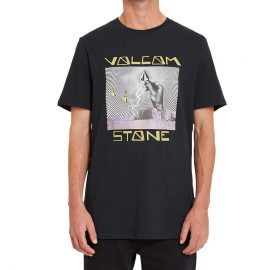 volcom stone strikes póló black A5032105
